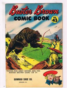 Buster Brown # 43 Brown Shoe Company Comic Book Bowman Shoe Co. Illinois JH2