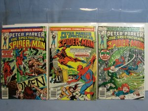 Peter Parker Spectacular Spider-Man (Marvel 1976) Issues #1 #2 & #4 Bronze Age!!