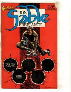 12 Jon Sable: Freelance First Comics # 18 19 20 21 22 23 24 25 27 28 29 30 J331