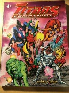 Titans Companion DC Comic Book Glen Cadigan Robin Raven Starfire Beast Boy MFT2