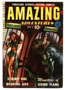 Amazing Adventures #2 1951 Saunders cover- Pre-code Horror