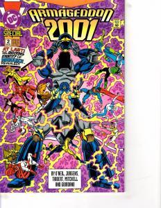 Lot Of 3 DC Comic Book Armageddon 2001 #1 2 Alien Agenda 1   MS22