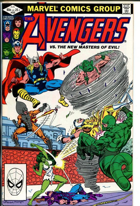 Avengers #222 1982 Hand Painted  Colorguide Page 12-fight scene-VG