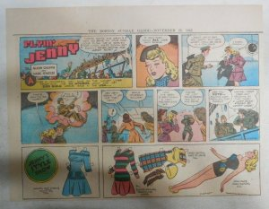 Flying Jenny Sunday page + Paper Doll  by Marc Swayze 11/25/1945 11 x 15 inches