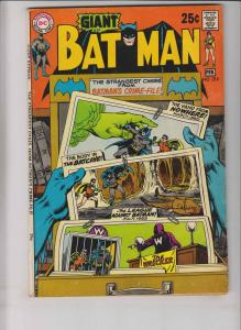 Batman #218 VG+ february 1970 - giant G-67 - strangest cases from the crime-file