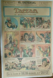 Tarzan Sunday Page #635 Burne Hogarth from 5/9/1943 in Spanish! Full Page Size