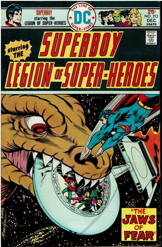 Superboy and the Legion of Super Heroes #213, 7.0 or better