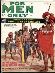 For Men Only Magazine May 1959- Mad Butcher and his 1000000 corpses G+