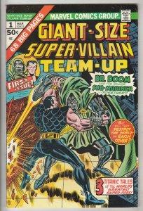 Giant-Size Super-Villain Team-Up #1 (Mar-75) NM- High-Grade Doctor Doom,Sub-M...