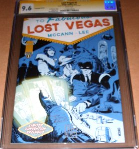 Lost Vegas #1 Con Variant CGC 9.6 SIGNED Jim McCann Janet Lee Image 2013 NM+ SS