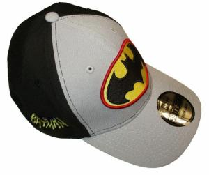Batman PX Gray & Black 2 Tone 3930 Flex Fit Cap MED/LG - New!