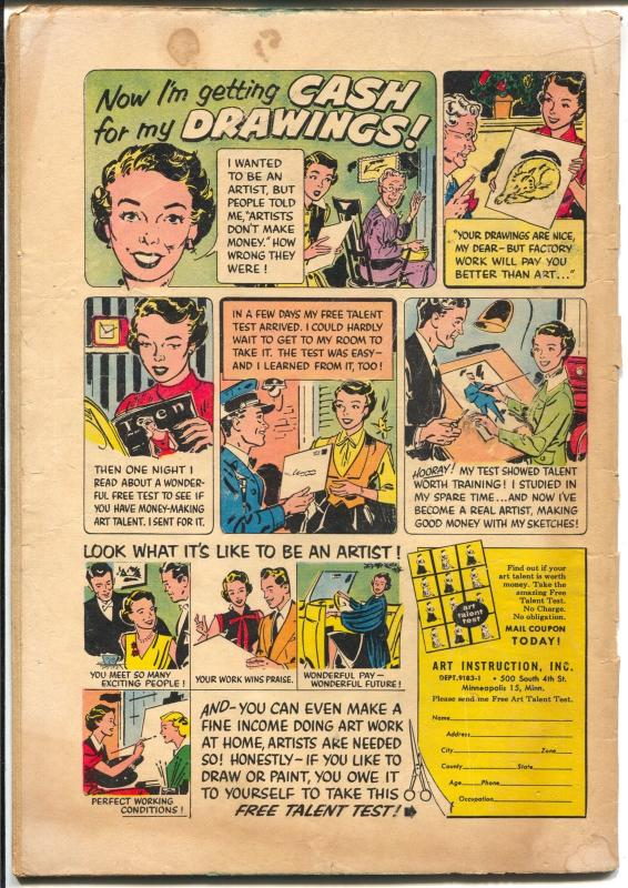 First Love #35 1953-Harvey-Kisses For SaleBob Powell-skating