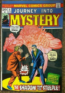 JOURNEY INTO MYSTERY #5  (Marvel, 6/1973) FINE (F) Bloch adaptation!