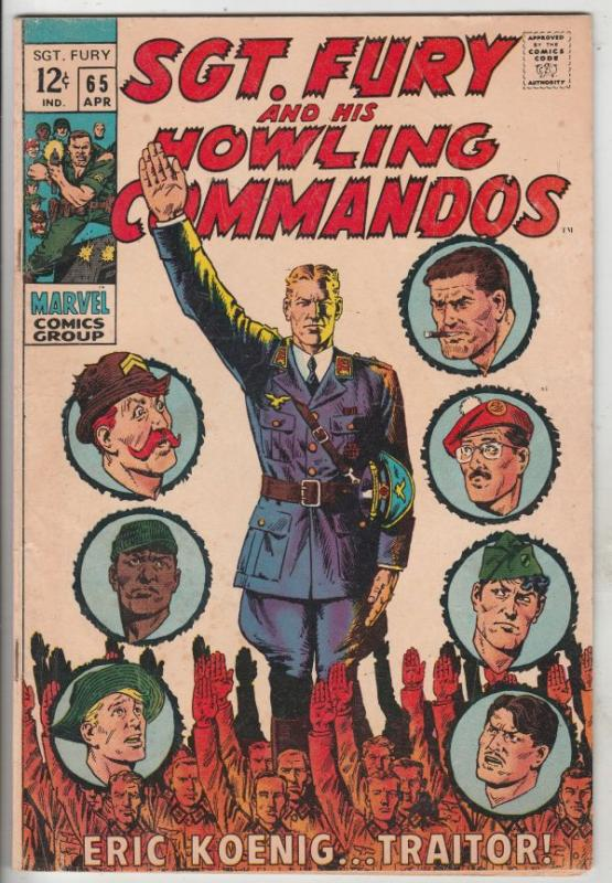 Sgt. Fury and His Howling Commandos #65 (Apr-69) FN Mid-Grade Sgt. Fury, Howl...