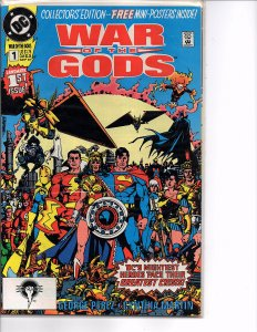 DC Comics War of the Gods #1 Collector's Edition Mini-Posters George Pérez Art