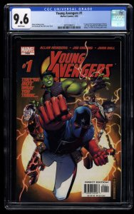Young Avengers #1 CGC NM+ 9.6 White Pages 1st Kate Bishop!