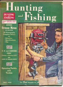 Hunting and Fishing 5/1950-National Sportsman-outboard motors-info-pix-ads-FR/G
