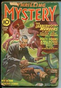 THRILLING MYSTERY 03/1944-WEIRD MENACE-PULP-MONSTER-HORROR-FREDRIC BROWN-vg