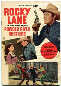 Fawcett Movie Comic 1050-Powder River Rustlers - Rocky Lane- Western  F/G
