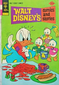 Walt Disney Comics and Stories 1974 Gold Key Bronze Age Comic 25 Cent Cover FN-