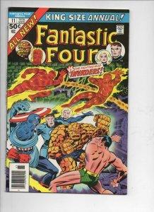 FANTASTIC FOUR #11 Annual, FN, Sub-Mariner, Captain America,1961 1976, Marvel