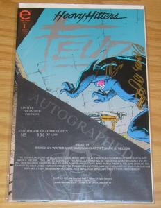 Feud #1 VF/NM limited treasured editions + print SIGNED MIKE BARON limited 1000