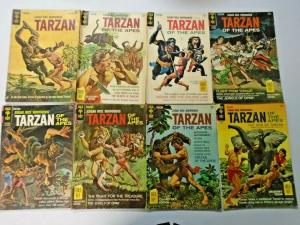 Gold Key Burroughs Tarzan lot 45 different books VG (silver + bronze)