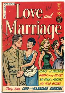 Love and Marriage #10 1953- Spicy cover art- Tears of Despair VG+