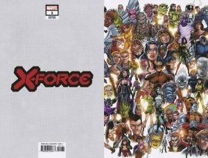 X-FORCE (2019 MARVEL) #1 VARIANT BAGLEY EVERY MUTANT EVER DX PRESALE-11/06