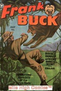 FRANK BUCK (1950 Series) #71 Very Good Comics Book