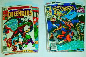 Defenders V1 #92,93,96-98,100,105,108+ DeMatteis Hellcat Hulk, comics lot of 42
