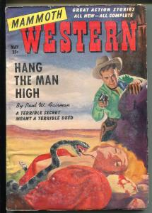 Mammoth Western 5/1950-rattlesnake-blonde babe-pulp thrills-hanging-VG/FN