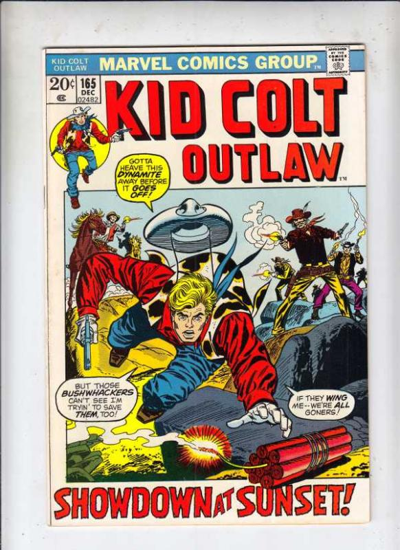 Kid Colt Outlaw #165 (Dec-72) FN/VF Mid-High-Grade Kid Colt