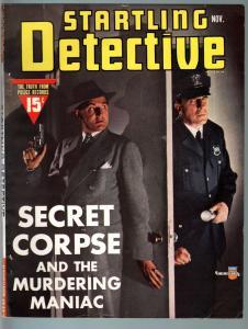 STARTLING DETECTIVE NOV 1941-DYNAMITE-MURDER-MEYHEM-TRUE CRIME FN/VF