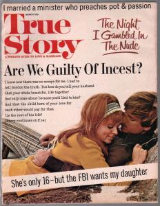 True Story 3/1976-exploitation magazine-incest-Pot & Passion-VG