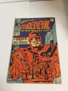 Daredevil 41 Vg/Fn Very Good/Fine 5.0 Water Damage Silver Age