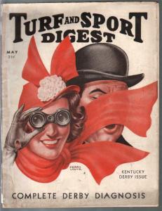 Turf and Sport Digest 5/1938-Henry Lauve cover-Kentucky Derby-pix-info-VG-