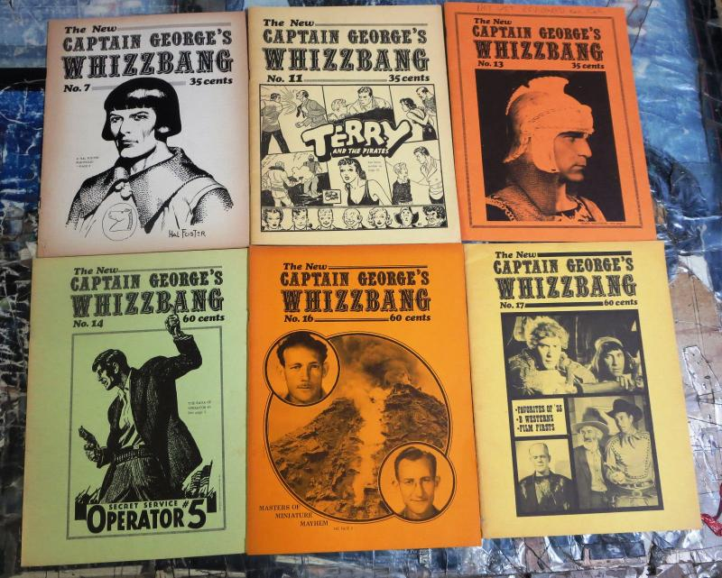 Captain George's Whizzbang lot! 6 issues- Hal Foster, Milt Caniff, B Westerns