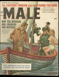 MALE SEPT 1966-SPICY NAZI COVER-SOVIET WEATHER THREAT-W VG-