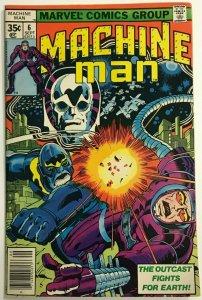 MACHINE MAN#6 FN/VF 1978 JACK KIRBY MARVEL BRONZE AGE COMICS