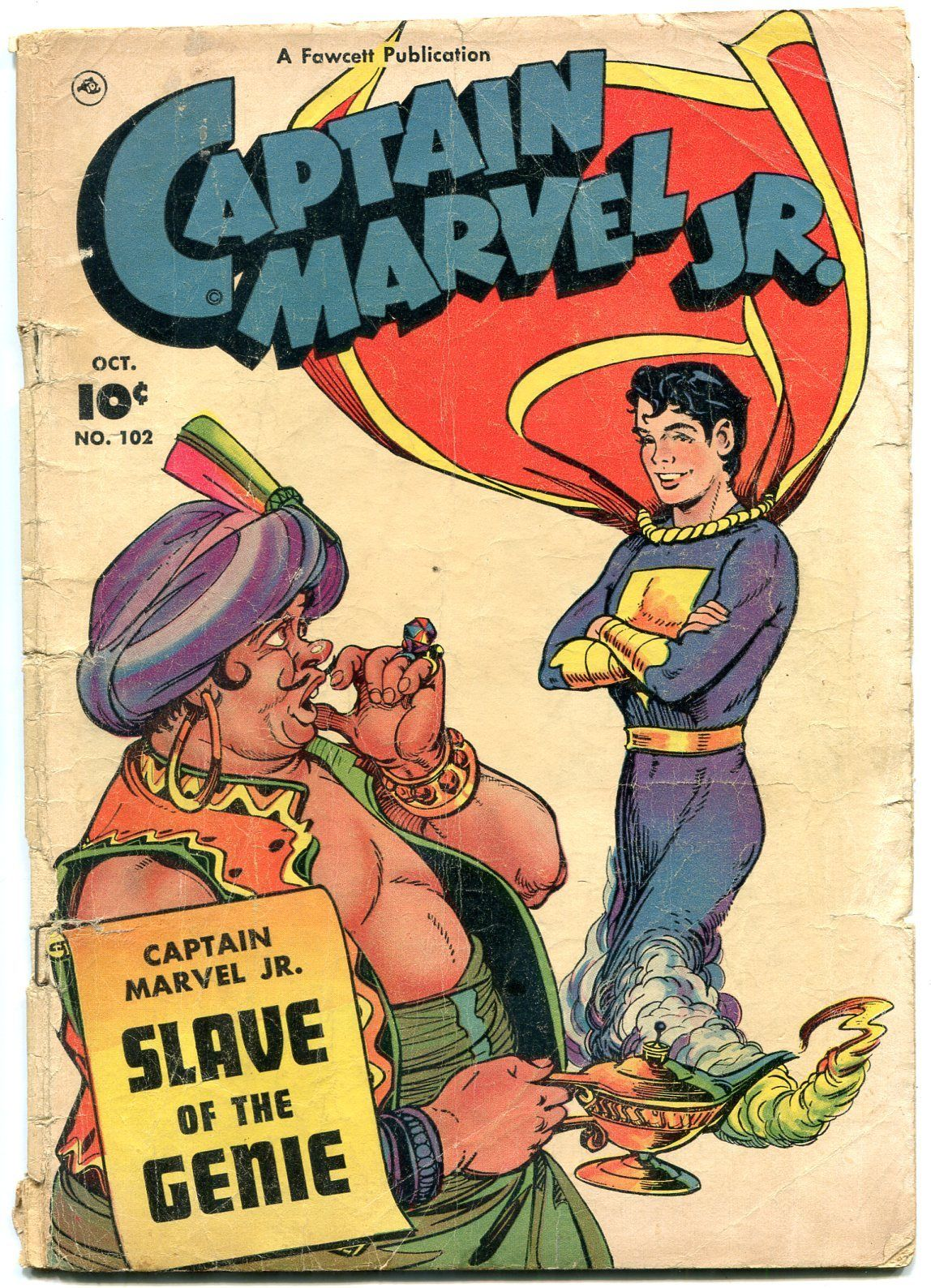 Captain Marvel Jr 102 1951 Fawcett Golden Age Incomplete Hipcomic