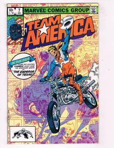 Team America #7 VF/NM Marvel Comics Bronze Age Comic Book Dec 1982 DE45