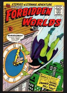 FORBIDDEN WORLDS #134-1966-SILVER-AGE SCI-FI-ACG-MAGICMAN-VG VG