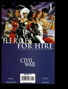 Lot Of 4 Heroes For Hire Marvel Comics # 1 2 3 4 Civil War Captain America SM2