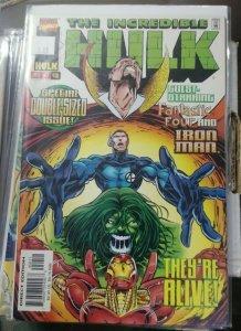 INCREDIBLE HULK  # 450 1997 marvel fantastic four  ironman onslaught universe