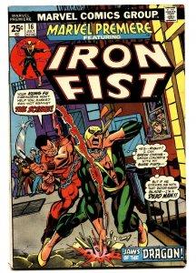 MARVEL PREMIERE #16 comic book - Second Iron Fist Netflix Marvel