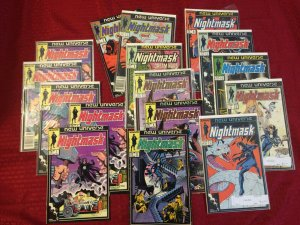 Set of 16 Marvel Nightmask Comics, 30+ years Old Great Condition