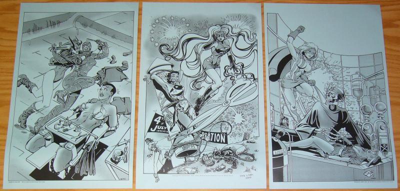 Femforce Pulp Fiction Art Portfolio #2 mark heike - stephanie heike - AC 2002