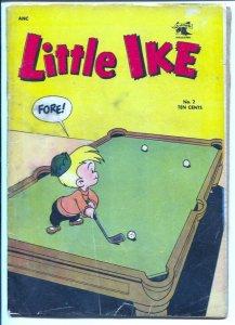 Little Ike #2 1953-St John-golf & pool table cover-vintage humor-G