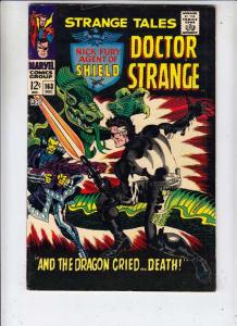 Strange Tales #163 (Aug-67) FN+ Mid-High-Grade Nick Fury, Dr. Strange